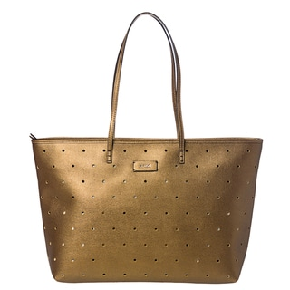 Fendi Metallic Perforated Roll Tote