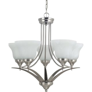 'Brockton' Brushed Nickel 5-Light Single Tier Chandelier