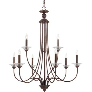 'Lemont' Burnt Sienna 9-Light Single Tier Chandelier