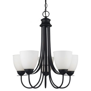 'Uptown' Blacksmith 5-Light Single Tier Chandelier