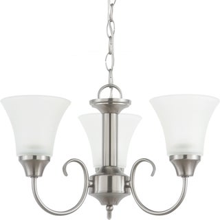 'Holman' Brushed Nickel 3-Light Single Tier Chandelier