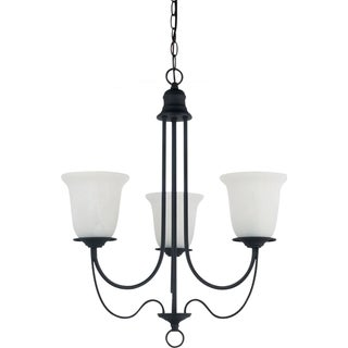 Sea Gull Lighting Plymouth 3-light Blacksmith Single-tier Chandelier