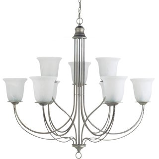 Sea Gull Lighting Plymouth 9-light Weathered Pewter Multi-tier Chandelier