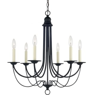 Sea Gull Lighting Plymouth 6-light Blacksmith Single-tier Chandelier