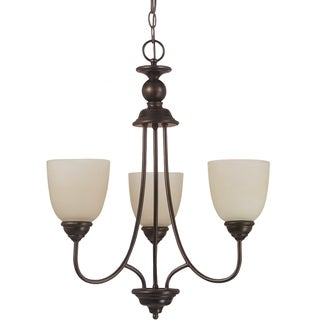 Sea Gull Lighting Lemont 3-light Burnt Sienna Single-tier Chandelier