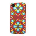 Colorful Pattern Dimensional Apple iPhone Plastic Case
