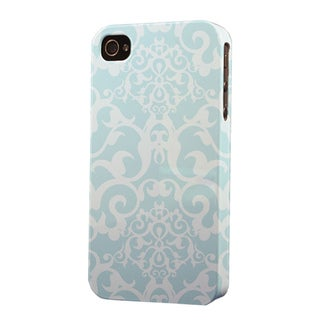 Plastic Light Blue Pattern Dimensional Apple iPhone Case