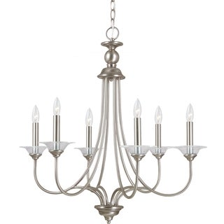 Sea Gull Lighting Lemont 6-light Antique Brushed Nickel Single-tier Chandelier