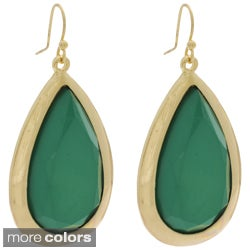 NEXTE Jewelry Goldtone Red or Green Lucite Teardrop Earrings