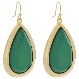 NEXTE Jewelry Goldtone Lucite Teardrop Earrings