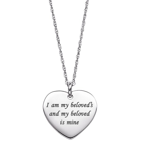 Sterling Silver Heart Life Sentiment Necklace