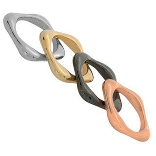 NEXTE Jewelry Color-plated Contoured Square Band