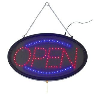 Winco Open LED Transparent Cover Sign