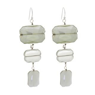 NEXTE Jewelry Silvertone Crystal Roaring Twenties Earrings