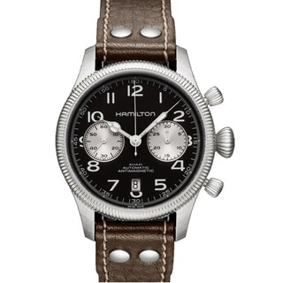 Hamilton Men's 'Khaki Pioneer Auto Chrono' Black Dial Watch
