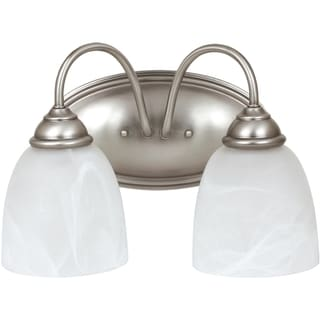Sea Gull Lighting Lemont 2-light Antique Brushed Nickel Vanity Fixture