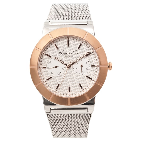 Kenneth Cole Men's New York Two-tone Mesh Strap Analog Watch