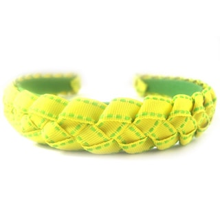 Crawford Corner Shop Yellow Green Braided Ribbon Headband