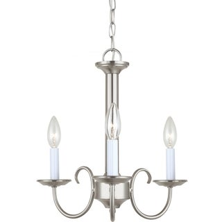 Holman 3-Light Single Tier Brushed Nickel Chandelier