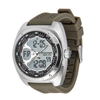 Freestyle Men's 'Contact' Green Strap Analog/ Digital Watch