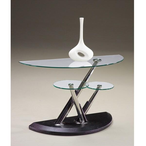 Modesto Metal And Glass Half Moon Sofa Table 15387135