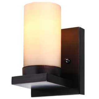Ellington 1-light Burnt Sienna Wall/Bath Sconce with Cafe Tint Glass