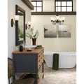 Holman 1-Light Bell Metal Bronze Wall/Bath Sconce with Satin Etched Glass Shade
