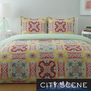 City Scene Juniper Paisley Cotton 3-piece Reversible Comforter Set