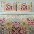 City Scene Juniper Paisley Cotton 3-piece Reversible Comforter Set