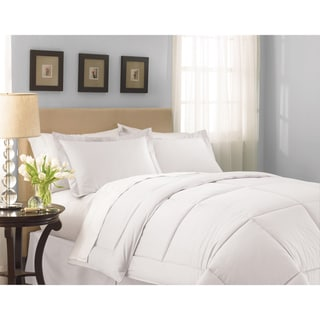 Lightweight White Sateen Down Alternative Comforter