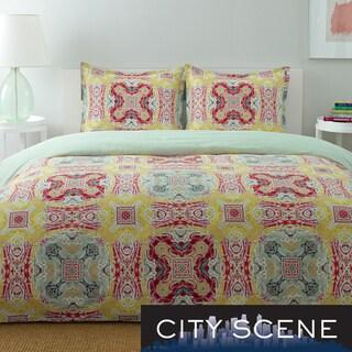City Scene Juniper Paisley Cotton 3-piece Duvet Cover Set