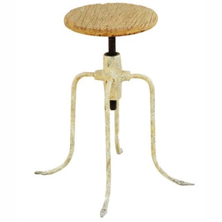 nuLOOM Adjustable Natural Bar Stool