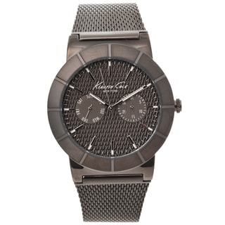Kenneth Cole New York Men's Gunmetal Mesh Strap Watch