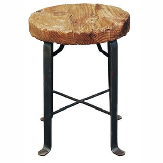 nuLOOM Euro Natural Iron Bar Stool