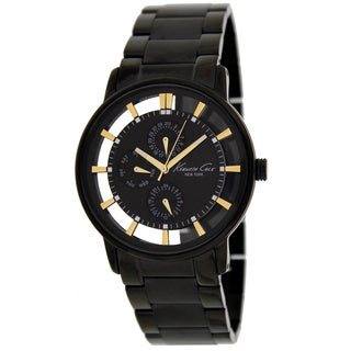 Kenneth Cole New York Men's Black Dial Clear Case Analog Watch