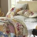 Fay Floral Patchwork 3-piece Quilt Set
