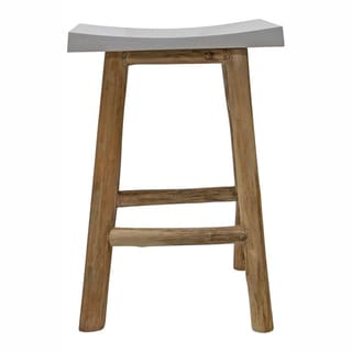 nuLOOM White Bar Stool