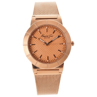 Kenneth Cole New York Women's Rose Goldtone Mesh Band Watch