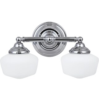 Academy Chrome Vanity 2-light Fixture
