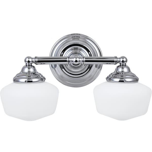 Vanity Lights Overstock : Academy Chrome Vanity 2-light Fixture