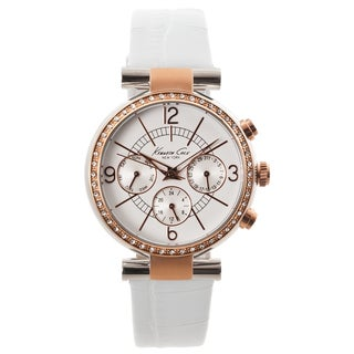 Kenneth Cole New York Women's White Dial Crystal Accented Watch