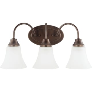 Holman 3-light Bell Metal Bronze Wall/Bath Vanity with Satin Etched Glass