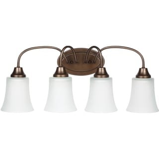Holman Bell Metal Bronze 4-light Vanity Fixture