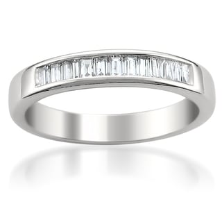 14k White Gold 1/2ct TDW Baguette Cut Diamond Wedding Band (G-H, VS1-VS2)