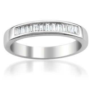 14k White Gold 1/2ct TDW Diamond Wedding Band (G-H, VS1-VS2)