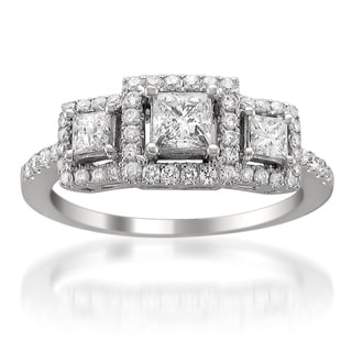 14k White Gold 1ct TDW Princess Diamond Engagement Ring (H-I, SI2)