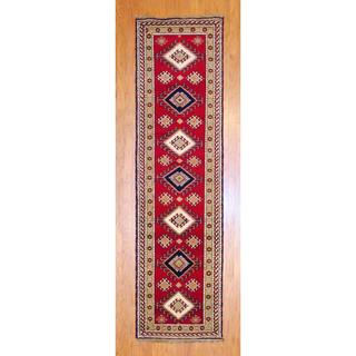 Indo Hand Knotted 2 6 X 10 Foot Red Salmon Kazak Wool
