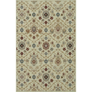 Indoor Outdoor Hudson Ivory/ Multi Rug (7'10 x 10'9)