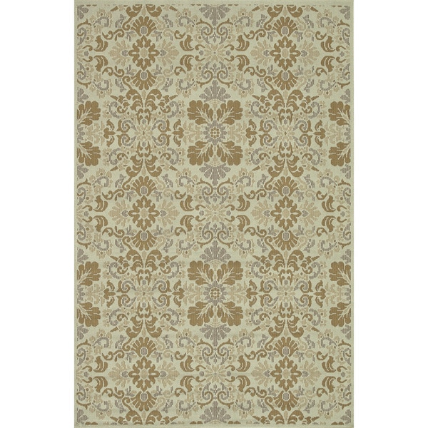 Indoor Outdoor Hudson Ivory/ Beige Rug (3'11 x 5'10)