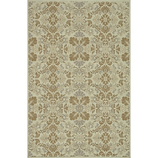 Indoor Outdoor Hudson Ivory/ Beige Rug (5'2 x 7'5)